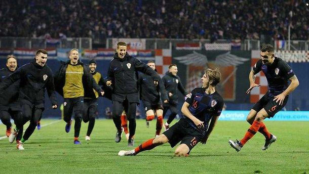 Лига наций: Хорватия в компенсированное время вырвала победу над Испанией