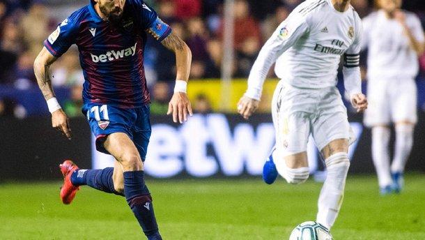 Шокирующее поражение мадридцев в видеообзоре матча Леванте – Реал