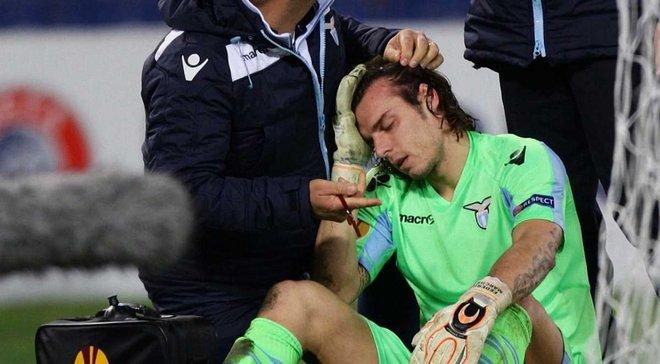 """Основний воротар """"Лаціо"""" зламав ніс на тренуванні (ФОТО)"""