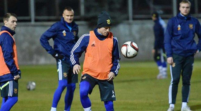 Иван Петряк на тренировке в сборной / фото ФФУ