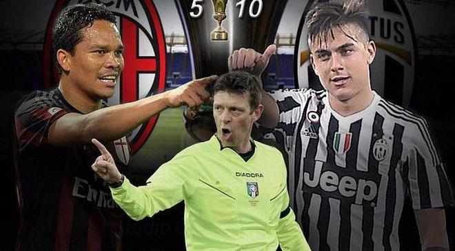 Милан ювентус кубок италии 2016