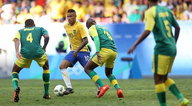 Олимпиада-2016: Бразилия с Неймаром в большинстве не обыграла ЮАР, Германия спаслась с чемпионами