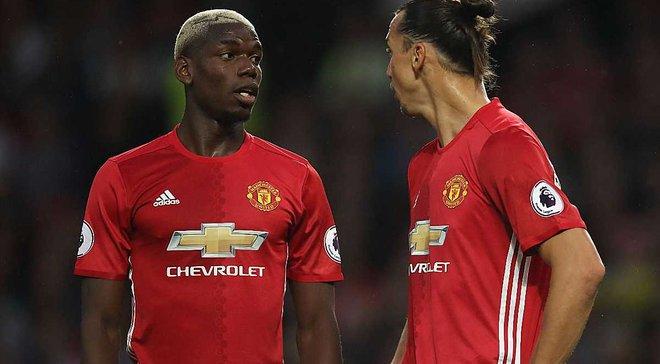 """Как Ибрагимович и Погба троллили друг друга после триумфального дебюта на """"Олд Траффорд"""""""