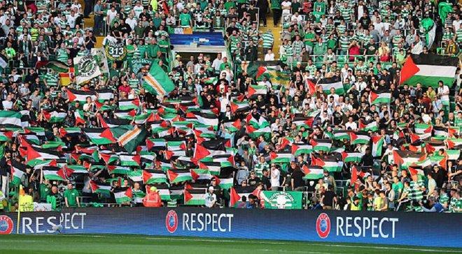 """Вболівальники """"Селтіка"""" зібрали значну суму для Палестини в знак протесту проти УЄФА"""