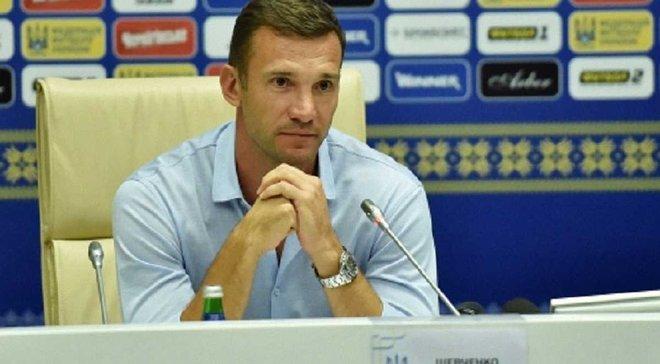 Шевченко оголосив склад збірної України на матч з Ісландією