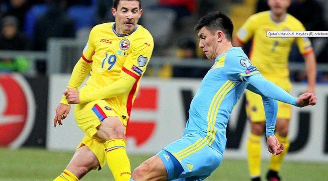 Отбор ЧМ-2018: Румыния не сумела обыграть Казахстан