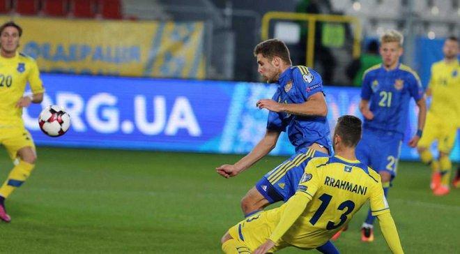 Украина – Косово: УЕФА вернул гол Кравцу