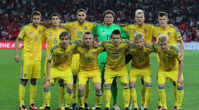 Україна зберегла позиції у оновленому рейтингу збірних ФІФА
