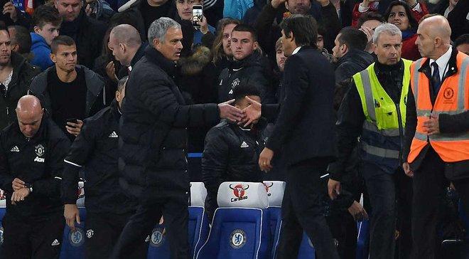 """""""Челси"""" – МЮ: Стало известно, что Моуринью сказал Конте после матча"""
