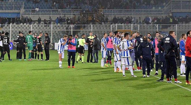 Землетрус змусив арбітра призупинити матч Серії А