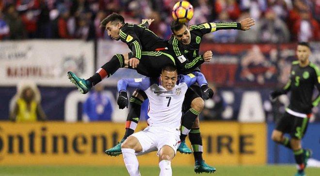 США стартовали с поражения от Мексики в квалификации ЧМ-2018