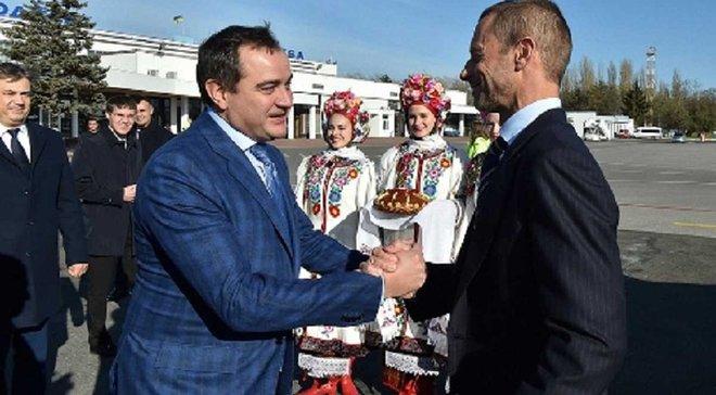 Павелко: Чеферин оказался фартовым для сборной Украины