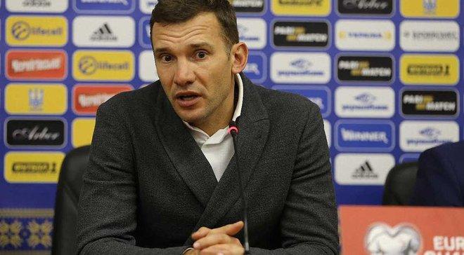 Шевченко: Не может быть лучшего завершения года для сборной