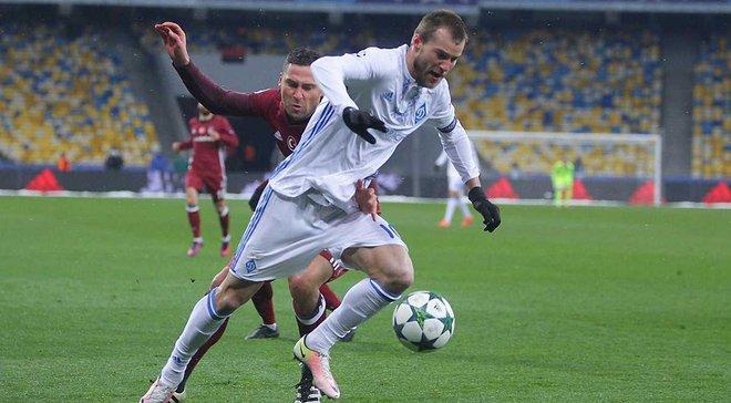 Ярмоленко и Лукас Перес претендуют на звание лучшего игрока 6 тура Лиги чемпионов
