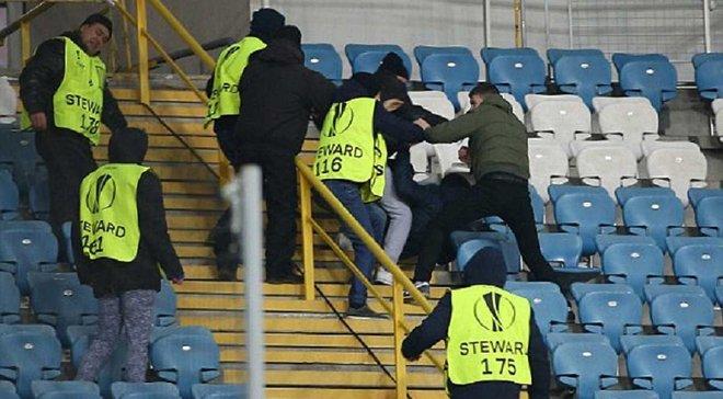 """""""Заря"""" – МЮ: перед матчем произошла стычка между фанатами"""