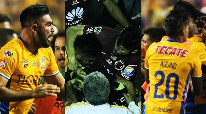 Горячие латинские парни в финале чемпионата Мексики: грандиозная драка, 5 удалений, слезы и драма