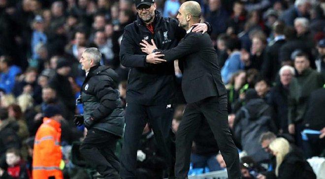 """""""Манчестер Сіті"""" – """"Ліверпуль"""": Гвардіола під час матчу """"дав п'ять"""" Клоппу"""