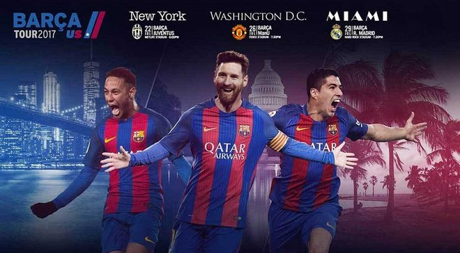 """""""Барселона"""" оголосила суперників на передсезонний тур у США"""