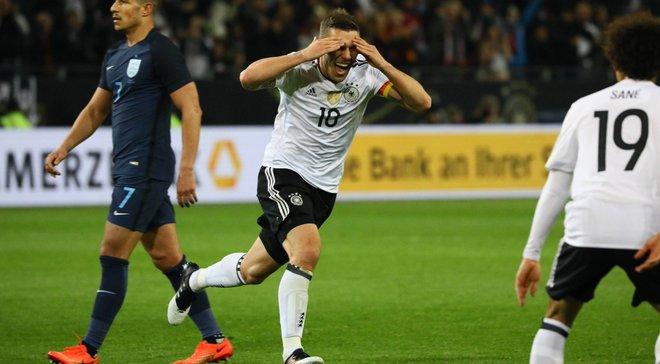 Подольскі забив фантастичний гол у своєму останньому матчі за збірну Німеччини