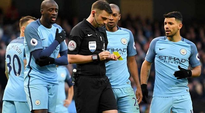 """""""Манчестер Сіті"""" отримав покарання від FA за неналежну поведінку футболістів у матчі проти """"Ліверпуля"""""""