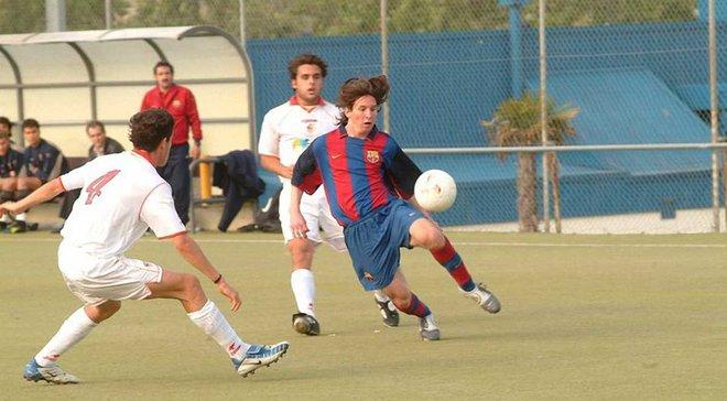 """""""Барселона"""" вперше показала рідкісні кадри гри Мессі у команді U-16"""
