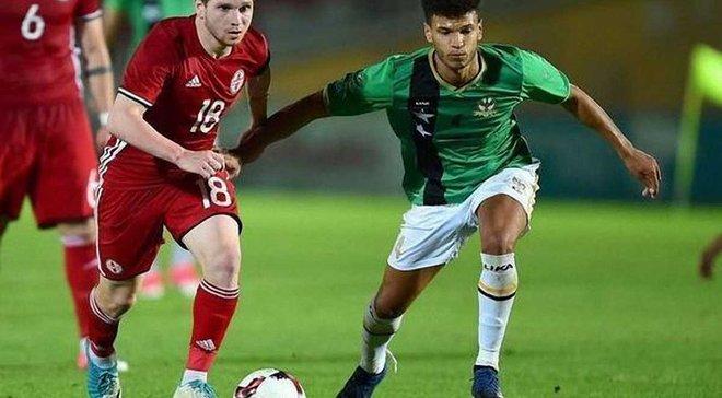 Нападающий Шахтера Арабидзе оформил дубль за сборную Грузии, забив невероятный гол