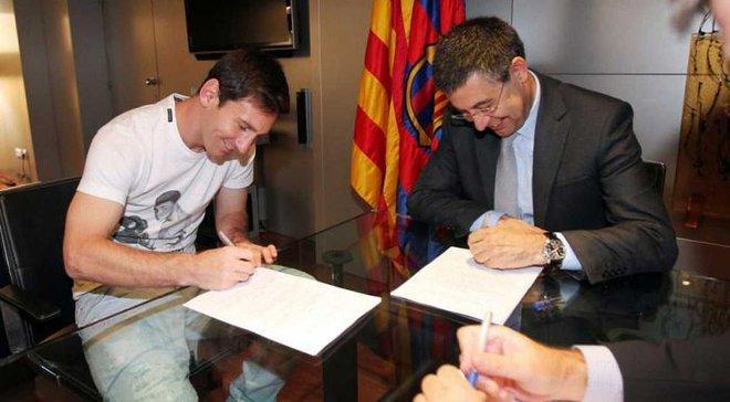 Мессі отримає 50 мільйонів євро за сам підпис під новим контрактом