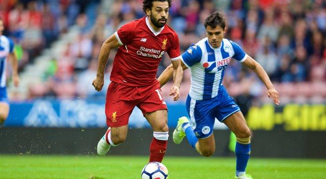 Салах забил дебютный гол за Ливерпуль в товарищеском матче против Уигана