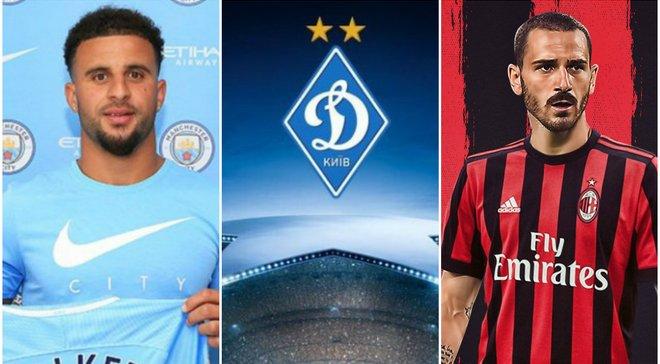 Топ-новини: Динамо, Олімпік і Олександрія дізнались суперників у єврокубках, Вокер перебрався в Манчестер Сіті, Бонуччі – гравець Мілана