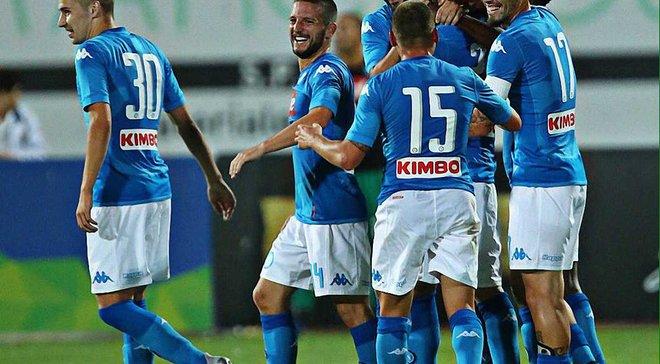 Защитник Наполи Кирикеш забил невероятный гол с центра поля – неаполитанцы победили 7:0