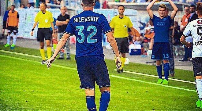 Милевский уже забивает в ворота боссов Динамо Брест в настольном футболе