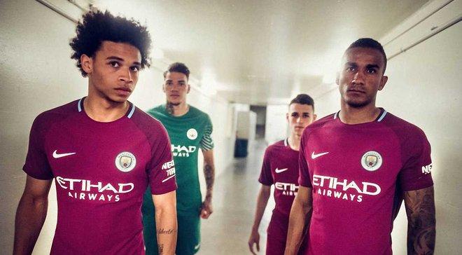 Манчестер Сіті представив новий яскравий комплект виїзної форми на сезон 2017/18
