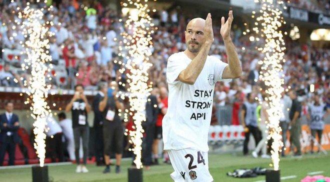 Игроки Ниццы поддержали Абдельхака Нури перед матчем Лиги чемпионов против Аякса