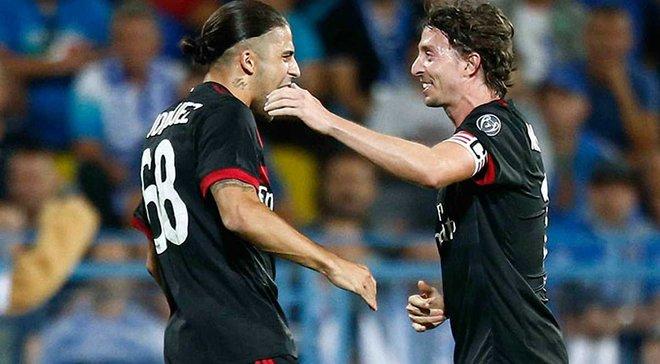 Милан забил гол в еврокубках первый раз за 1234 дня
