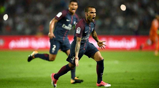 ПСЖ завоевал Суперкубок Франции 2017, обыграв Монако благодаря Алвесу