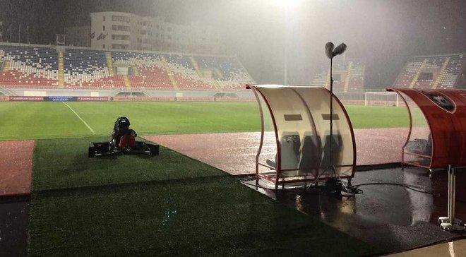 Косово – Україна: матч міг бути перенесений через зливу