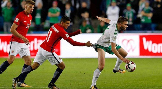 ЧМ-2018: Норвегия одолела Северную Ирландию, Чехия в заключительном матче отбора разгромила Сан-Марино