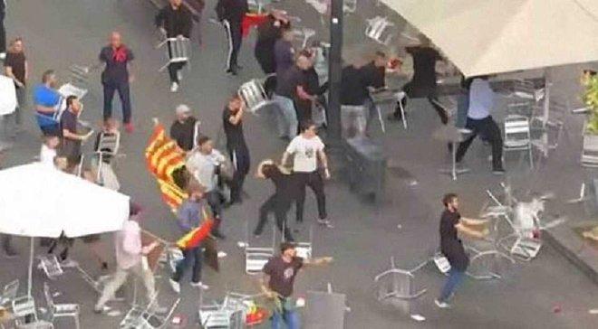 Фанати Валенсії та Атлетіко влаштували погроми у Барселоні в Національний день Іспанії