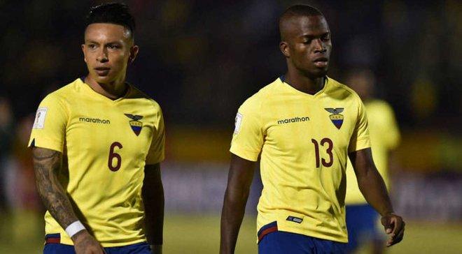 Еннер Валенсія та ще 4 гравці збірної Еквадору виключені з команди через гулянку перед матчем з Аргентиною