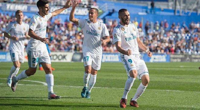 Реал в конце матча одерживал победу над Хетафе