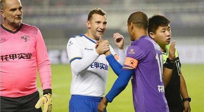 Шевченко у якості капітана збірної зірок Європи зіграв у товариському матчі в Китаї