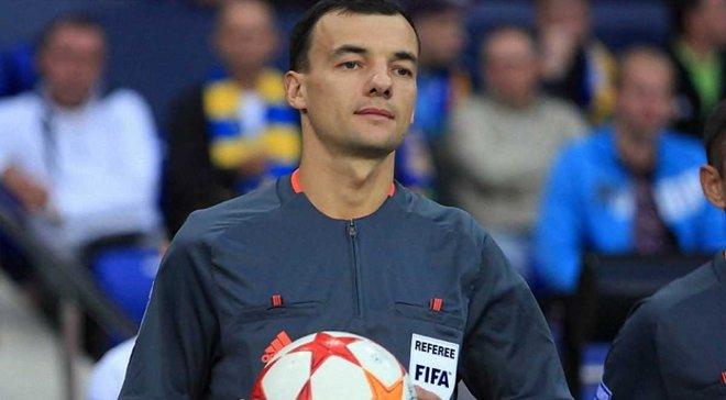 Украинский арбитр Бойко обслужит матч Лиги Европы Астана – Маккаби Тель-Авив