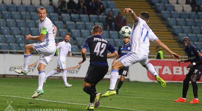 Динамо попало в топ-10 клубов Европы по ударам в створ, опережая многих грандов