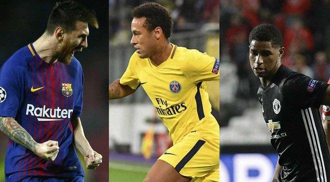 УЕФА назвал 8 претендентов на звание лучший игрок 3 тура Лиги чемпионов 2017/18