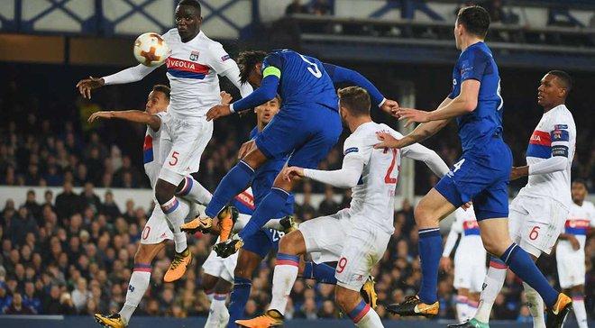 Лига Европы: Лион вырвал победу в матче с Эвертоном, АЭК отобрал очки у Милана