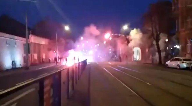Фанаты Копенгагена и Злина устроили беспорядки перед и во время матча Лиги Европы