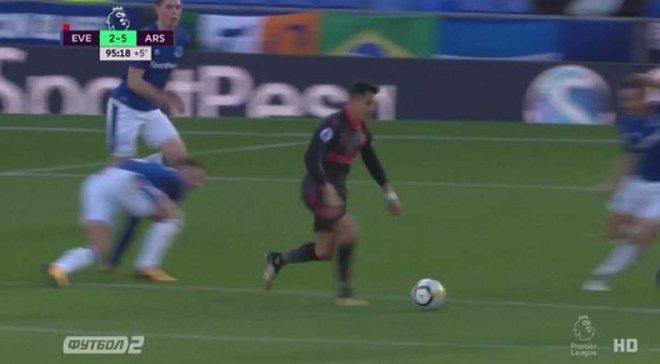 Евертон – Арсенал: гол Санчеса