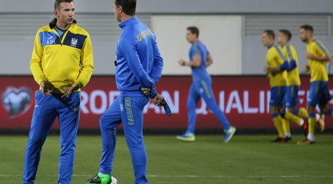 Сборная Украины начнет подготовку к матчу со Словакией 6 ноября