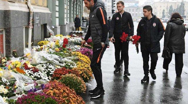 Тренерський штаб Шахтаря вшанував пам'ять загиблих у ДТП в Харкові