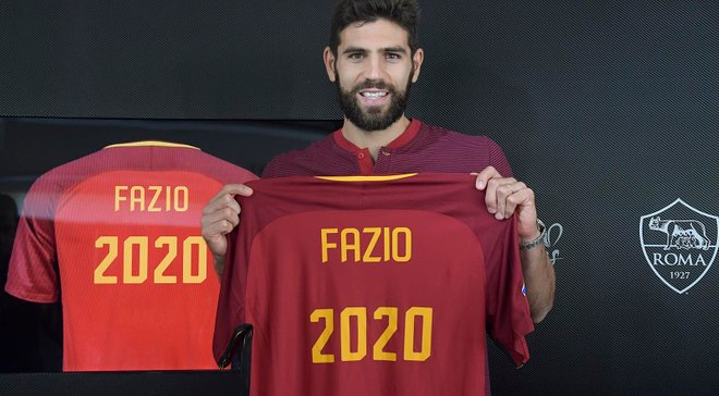 Фасио подписал новый контракт с Ромой